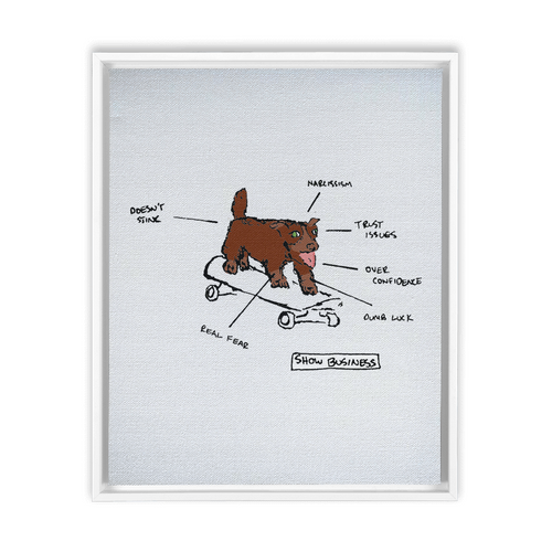 Dogshow Business Framed Traditional Stretched Canvas