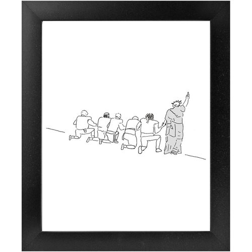 Liberty Protest Framed Print