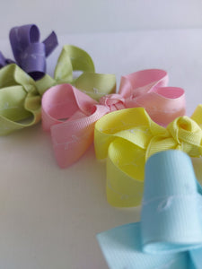 Easter Colour Bows with white Embroidery