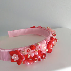 The Luxe Pink and Red Headband