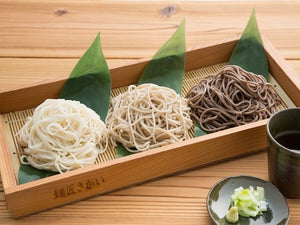 "Fine Food Contest Grand Prize! ""The flavors of the 90 year old noodle making factory, ""Yabu"", ""Countryside"", and ""Sarashina"" set for comparison【ファインフードコンテスト最優秀賞品】創業90年の老舗製麺所の味 「藪」「田舎」「更科」 蕎麦食べ比べセット - foodots. Japan"