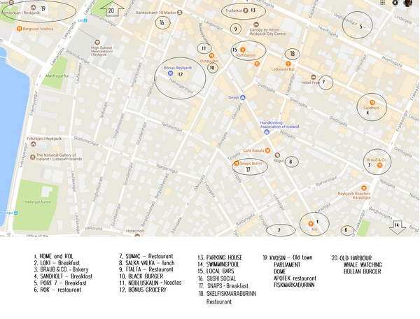 RESTAURANTS LOCATIONS