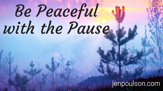 Be Peaceful with the Pause