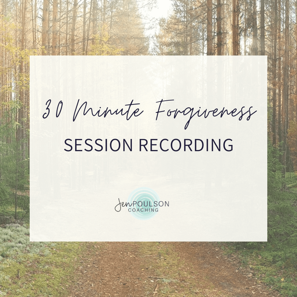 30 Minute Forgiveness Session Recording