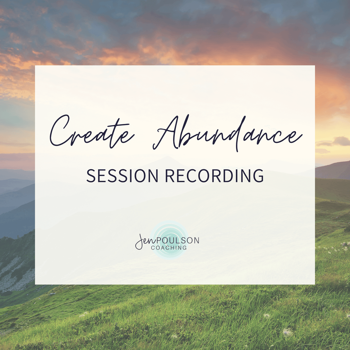 Create Abundance Session Recording