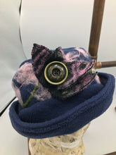 Load image into Gallery viewer, Handmade blue fleece hat
