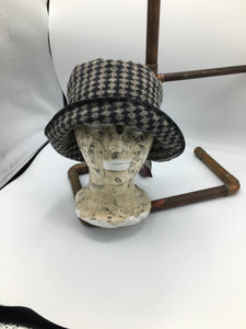 Faux boiled wool hat