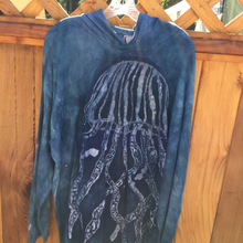 Load image into Gallery viewer, Hand dyed & batik jelly fish hoodie