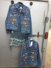 Load image into Gallery viewer, April Cornell Rose Jean jacket