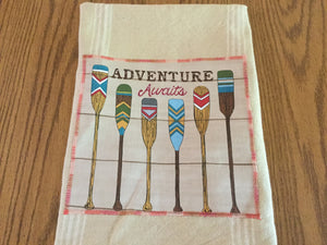 Handmade tea towels ,adventure themes