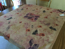 Load image into Gallery viewer, Natural dyed botanical tablecloth/fabric Art  cloth
