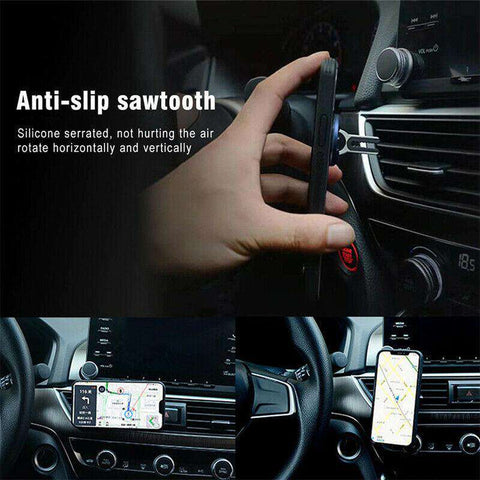 Multipurpose Mobile Phone Holder 360 Degree Car Air Vent Grip Mount Stand Rotation Magnetic Finger Ring Phone Holder Bracket