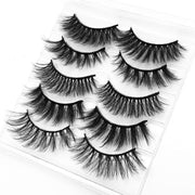 5/8 pairs 3D mink eyelashes 3D natural false eyelashes 3d soft mink eyelashes extension Makeup Kit