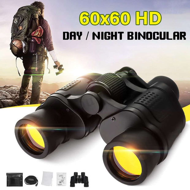 Waterproof High Clarity Telescope 60X60 Binoculars Hd 3000M High Power For Outdoor Hunting Night Vision binocular Fixed Zoom