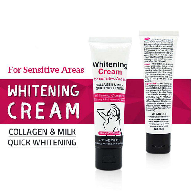 Armpit Whitening Cream Skin Lightening Bleaching Cream For Underarm Dark Skin Legs Knees Whitening Intimate Body Lotion TSLM1