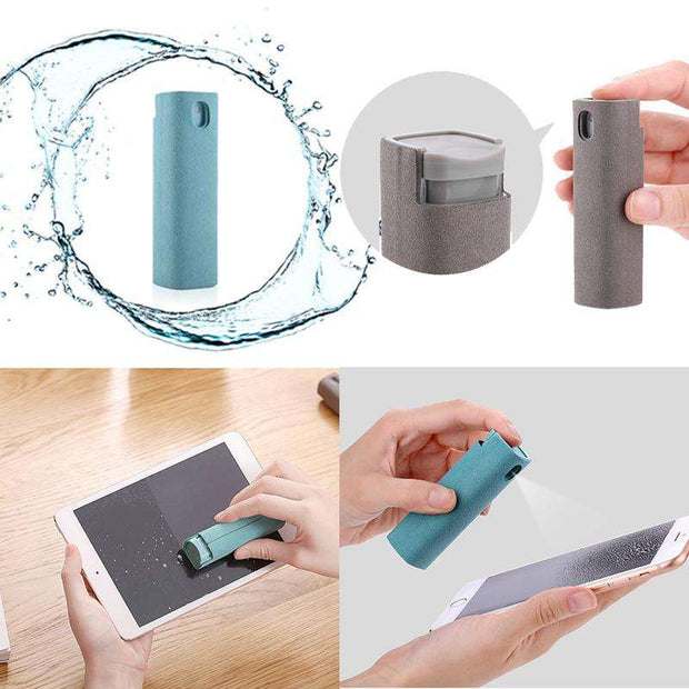 2 in 1 Portable Screen Cleaner w/ Antibacterial Spray