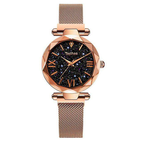 Classy Rose Gold Ladies Stylish Watch