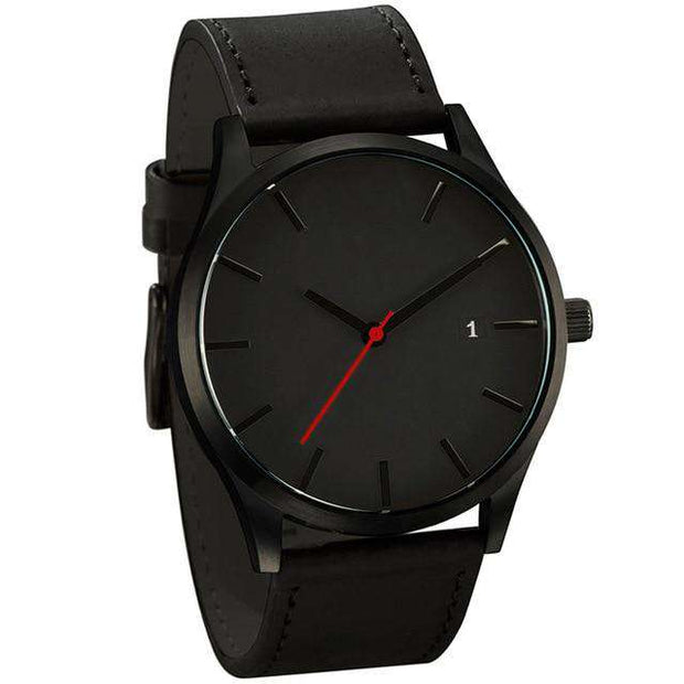 Men's Minimalist Watch Genuine Leather Band