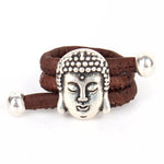 bague en liege bouddha marron