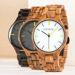 Montre en bois d'olivier collection