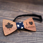noeud papillon en bois canada attache