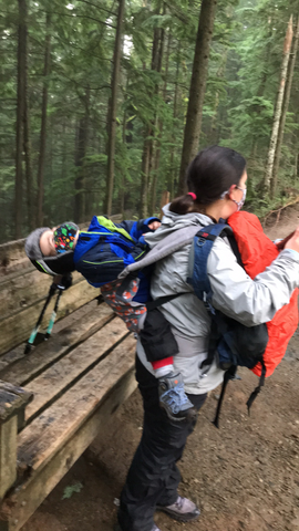 Hiking with a mad toddler