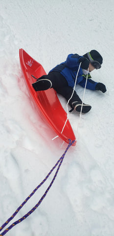 Falling out of sled