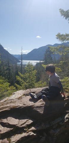 child taking in view
