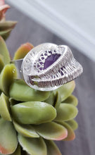 Load image into Gallery viewer, Amethyst Statement Ring