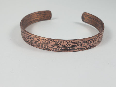 Bracelet - Copper Wave Cuff Bracelet