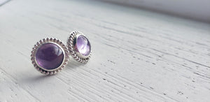 Earrings - Amethyst Stud Earrings