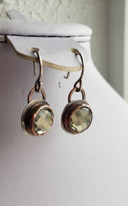 Earrings - Faceted Pyrite Earrings