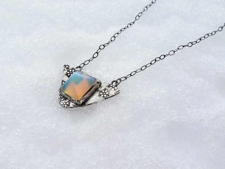 Necklace - Opalite Snowflake Necklace