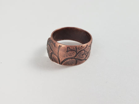 Ring - Adjustable Copper Heart Ring