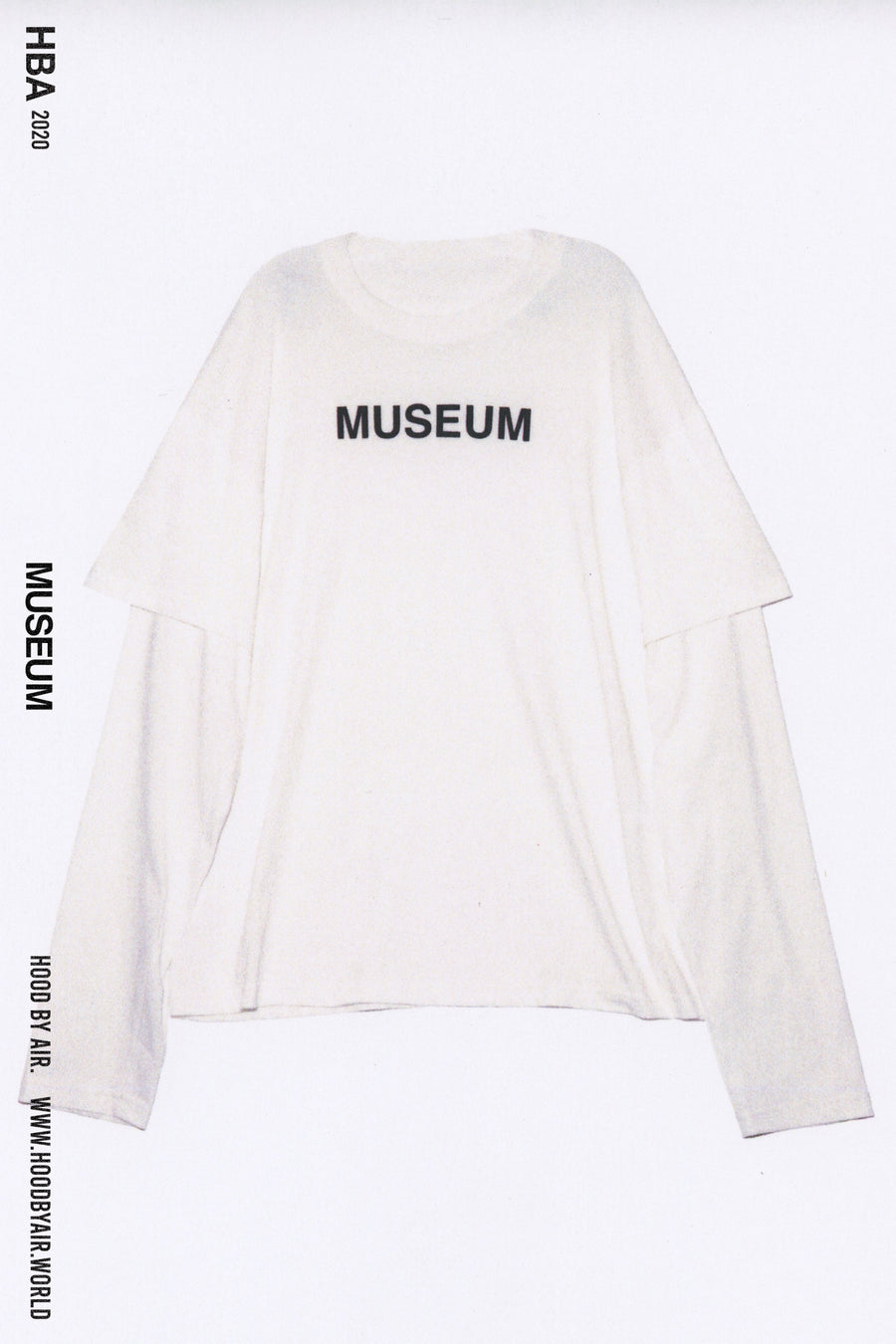 HBA-M-002-02 MUSEUM SHORT OVER LONG WHITE