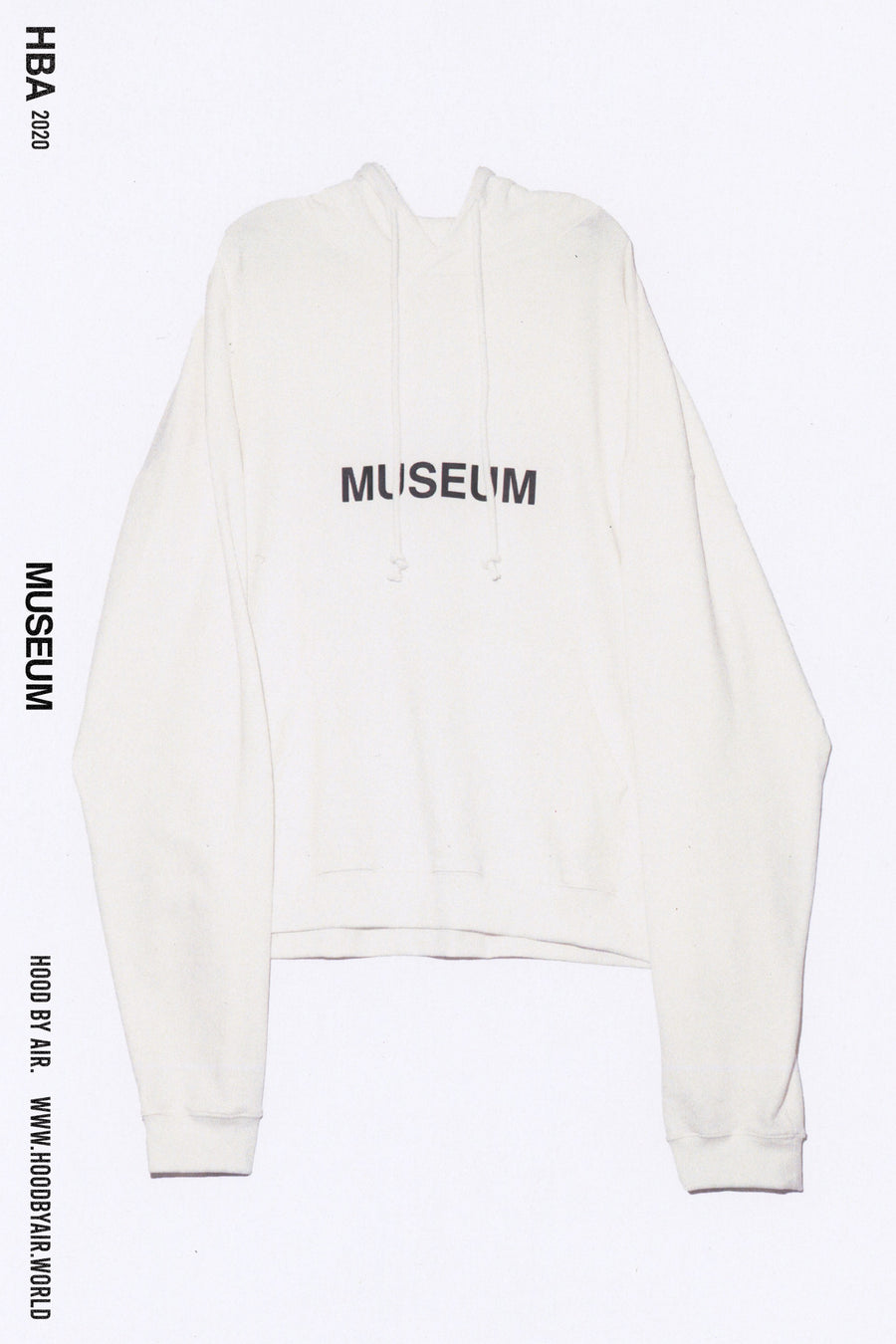 HBA-M-001-02 MUSEUM HOODED SWEATSHIRT WHITE