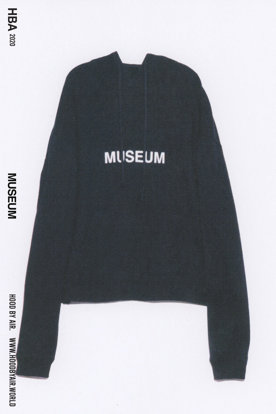 HBA-M-001-01-BL MUSEUM HOODED SWEATSHIRT BLACK