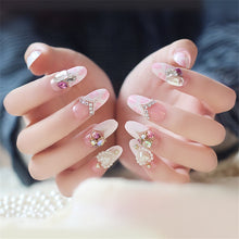 Load image into Gallery viewer, 24Pcs Shining Rhinestone  False Nails