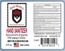 Load image into Gallery viewer, 8 oz Bottle 70% Isopropyl Alcohol Hand Sanitizer