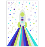 Load image into Gallery viewer, Starry Rocket Personalised Print