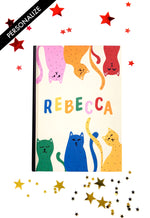 Load image into Gallery viewer, Dotty Cats Personalised Notebook