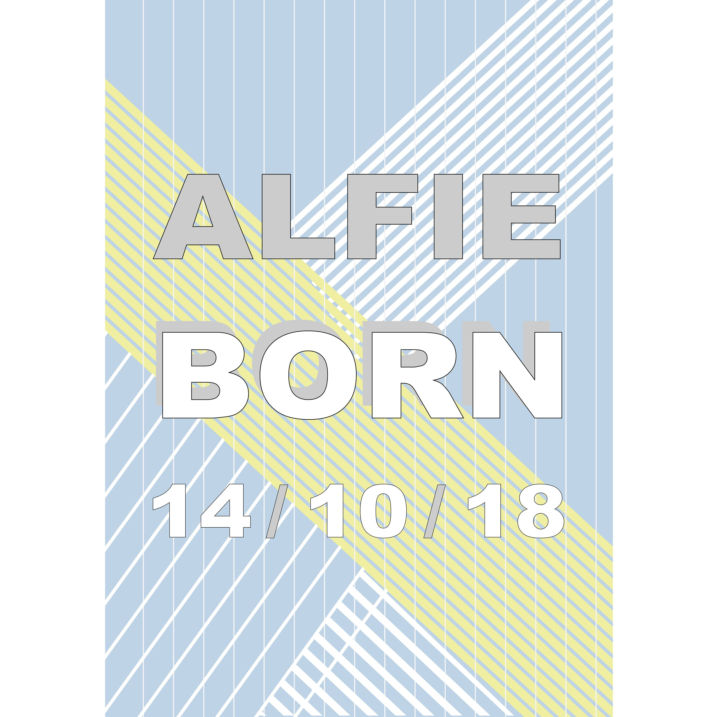 Baby Blue Graphic Personalised Print