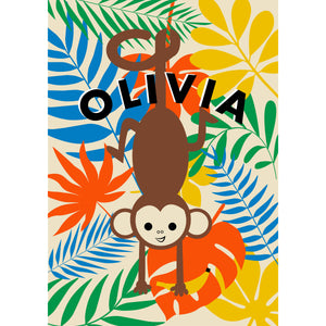 Cheeky Monkey Personalised Print
