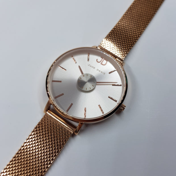 L'Audacieuse Silver & Rose Gold 34mm