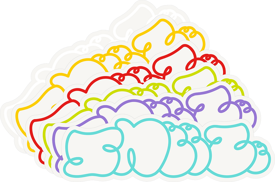 SNEEZE LOGO STICKERS 2021 COLORS
