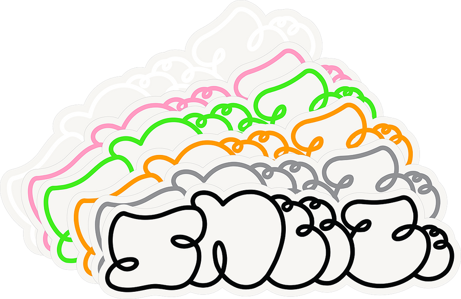 SNEEZE LOGO STICKERS RAINBOW
