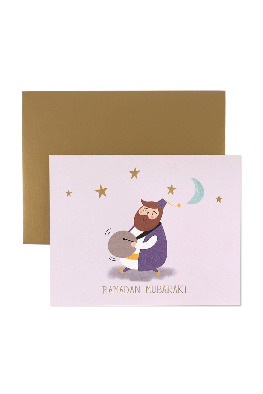 Ramadan Greeting Card featuring the Ramadan Drummer by Hello Holy Days!