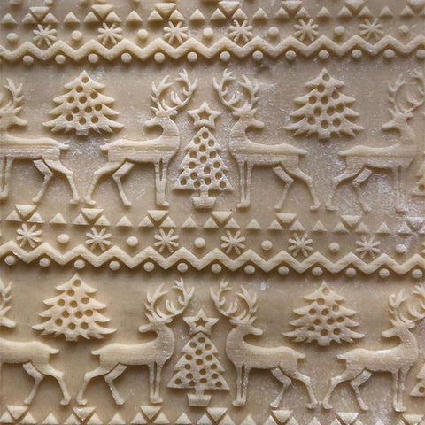 LovelyPastry Christmas Embossing Rolling Pin Cookies