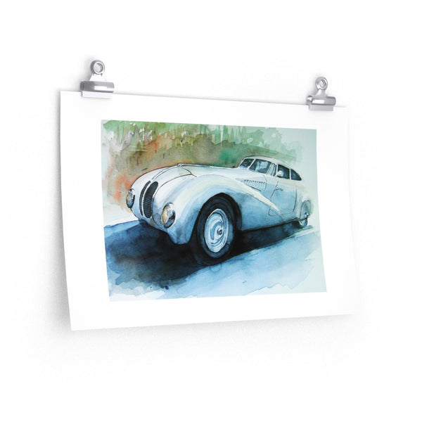 328 Kamm Coupe - Aquarell Illustration - Fine Art Paper