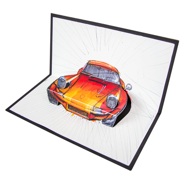 911 F RSR - Pop Up Card - Artists Edition